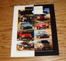 Original 1993 Volkswagen VW Full Line Sales Brochure 93 Jetta Golf GTI Passat