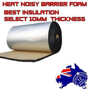 Car Ute Caravan Heat&Sound Insulation Noise Deadener Body/Bonnet 10mm Foam 2.9m²