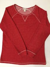 Coldwater Creek Long Sleeve Cotton Red Top Ladies Size 8 EXCELLENT!!!