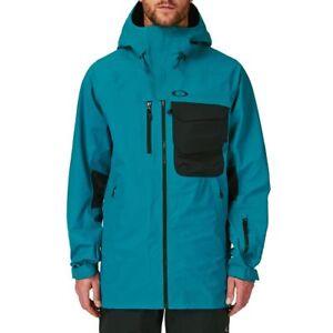 NWT MENS OAKLEY SOLITUDE GORE-TEX 3L SNOW JACKET $600 S Aurora Blue shell