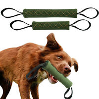 Jute Dog Bite Tug Training Chewing Toys with 2 Handles Durable for Schutzhund K9