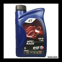 4 Litres Huile Moto ELF MOTO 4 RACE 10W-60 MA2 API SL - Haute Performance FRANCE