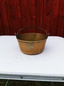 Small Vintage Brass Jam Pan