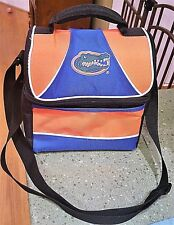 University of Florida Gators LUNCHBOX COOLER Pail Adjustable Strap Dual Storage