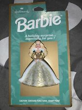 Barbie Hallmark Holiday Pin New On Card 1996 Fast Shipping