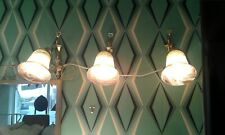 Wall Light / Sconce: Antique style: Brass with glass shade 2303