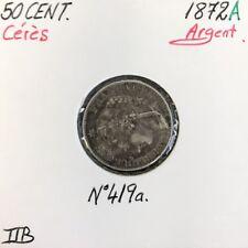 50 CENTIMES CERES - 1872A - Pièce de monnaie en Argent // TTB