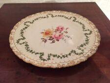 Beautiful Crown Derby Handpainted Plate - 22Cm