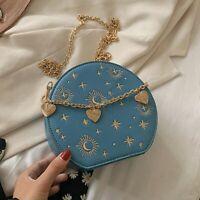 Fashion Starry Sky Round Bags Women Crossbody Bag Chain Circular Shoulder Bag