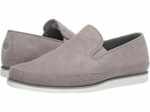 Sperry Top-Syder Mens Gold Cup Kittale Twin Gore Grey Suede Slip On Shoes 13