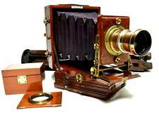 Antique Camera,Lancaster Instantograph, telephoto, plate holders, tripod