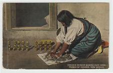 Tesuque Potter Making Rain Gods, c. 1910 NM New Mexico Pueblo