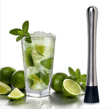 Stainless Steel Lemon Metal Masher Stir Bar Bartenders Cocktail Kitchen Muddler