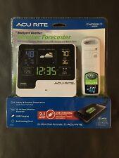 AcuRite Weather Forecaster w/ Indoor/Outdoor Temp, USB Charging & Alarm Clock
