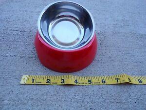 Pet Dog Cat Bowl Non Slip Feet Stainless Steel Raised Food Water; t10