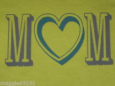 NWT Womens S LIFE IS GOOD Heart Mom S/S Tee Shirt on Chartreuse Green