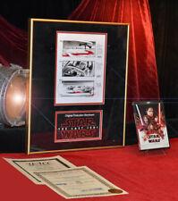 STAR WARS Last Jedi Color Production STORYBOARD, COA, UACC, Frame, Blu Ray DVD