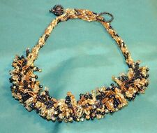 Vintage 1960's Hand Beaded Chocker / Necklace  Fine Art Piece