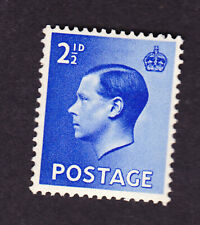 New listing Great Britain Edviii 1936 2 1/2d vlmm fine