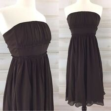 J. Crew 100% silk NWT strapless brown silk formal party dress classic 4 S