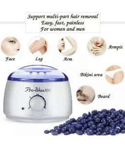 Wax Heater Pot Hot Warmer Depilatory Waxing Kit Facial Hair Removal Beans Body