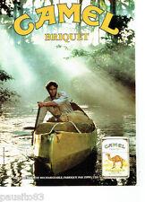 PUBLICITE ADVERTISING 046  1988  le briquet rechargeable Camel  par Zippo
