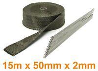 Auspuff Hitzeschutz Thermoband Titan  15M 50mmx2mm bis 900°C