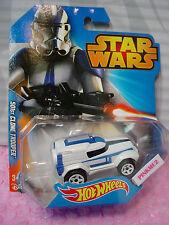 2015 Disney STAR WARS Hot Wheels ✰ 501ST CLONE TROOPER ✰ White/Blue ✰