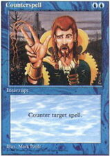 Counterspell, Heavy Play, English, 4th Edition MTG