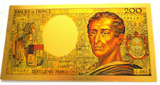 "★★ BILLET POLYMER  "" OR "" AVEC COULEURS DU 200 FRANCS MONTESQUIEU ★★ REF3"