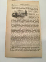 K33) General George Washington Headquarters American Revolution 1860 Engraving
