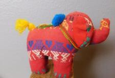 """Soft Sculpture Elephant Hand Woven Fabric 5 x 6.5"""""""