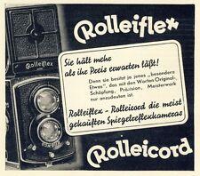Kamera Rolleiflex Rolleicord Fotoapparat Original Reklame von 1936