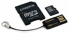 MicroSDHC 32gb tarjeta de memoria Kingston cl10 kit USB y adaptador SDHC en blíster