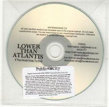 (EH572) Lower Than Atlantis, If The World Was To End - 2012 DJ CD