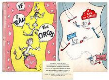 New listing 1st Printing Dr. Seuss' 1956 ''If I Ran the Circus''