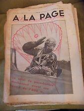 A la page N°120 Juillet 1932 Saut Parachute Machenaud eacord de 7800 m