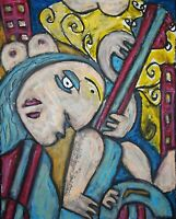 Blues City Rock Cubist Pop Art Print 8x10 Signed Artist Kimberly Helgeson Sams