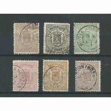 Nederland 13-18 Wapens 1869  VFU/gebr  CV 315 €
