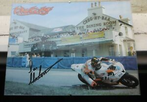 TT RACES SIGNED IAN HUTCHINSON PICTURE