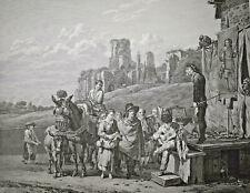KAREL DUJARDIN Les Charlatans GRAVURE Swebach GARREAU Medecine Theatre 1805