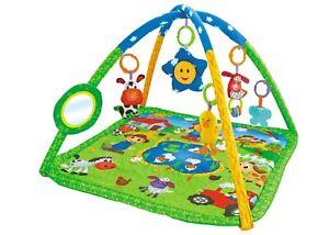 Lay & Play Baby Playmat Premium Farm Yard Animal Activity Play Mat With Toys