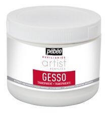 Pebeo Artist Acrylics AUSILIARI trasparente Gesso Pittura Primer 500 ML