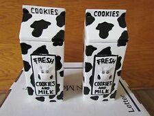 SET 2 FRESH MILK CERAMIC COOKIE JARS RARE PINT JAR CARTON HOUSTON HARVEST COW