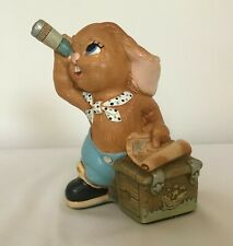 New ListingPendelfin Stonecraft Rabbit Figurine with map, chest & telescope - Hand Painted