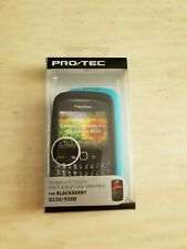 FLEXIBLE SOFT TOUCH BLACK AND BLUE CASE TWIN PACK FOR BLACKBERRY 8520/9300 NEW