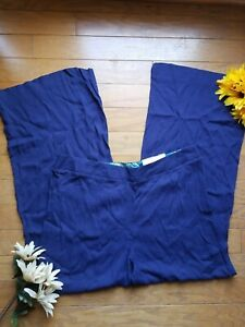 Cato Fashion Contemporary Pant Size 16 Blue Low Rise Wide Leg