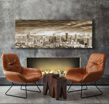 FRAMED 140x50cm Large Australian Canvas Prints| Aerial view of Melbourne VIC