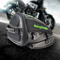 Motorcycle Rear Seat Bag Multifunction Side Moab PU Leather Storage Tail Bags