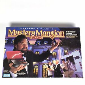 MYSTERY MANSION Electronic Talking Game 1995 Parker Brothers BOX WEAR Complete